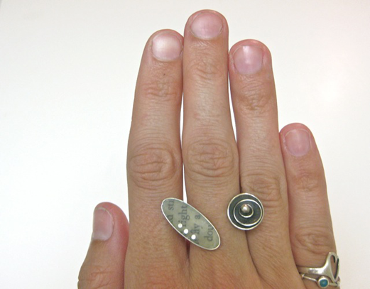 Ashley Weber Resin Leaf Ring from Against the Grain