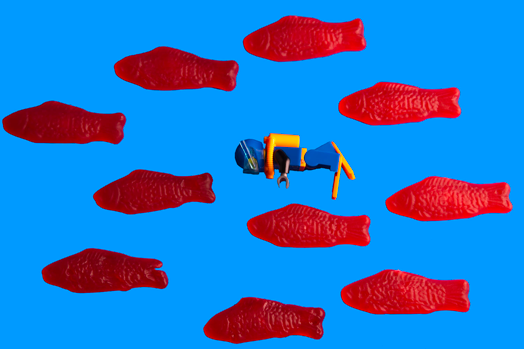 """Mike Small, """"Swimming with the Swedish Fishes"""""""