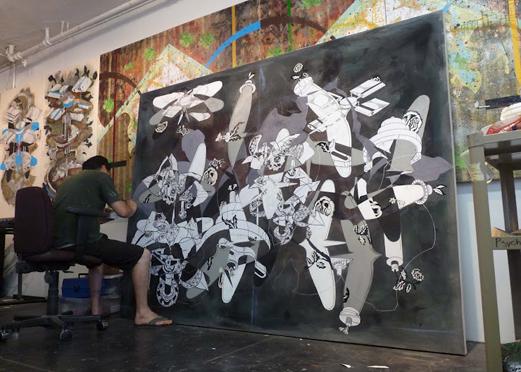 Fausto Fernandez in his studio.