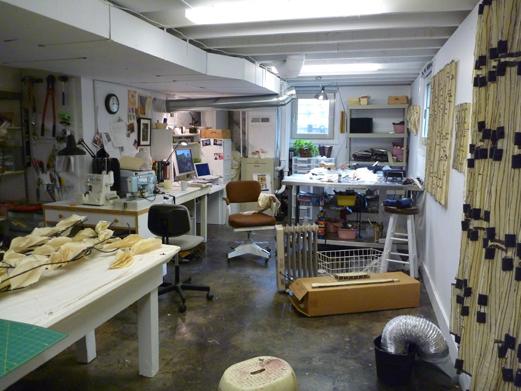 Brenda Mallory studio in Portland, Oregon