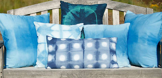 The Tangled Path Shibori Pillows