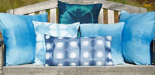 The Tangled Path Shibori Pillows