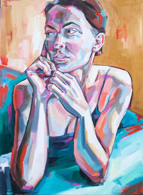 """Sheila Dunn, Nicholle, oil on canvas, 30""""x40"""""""