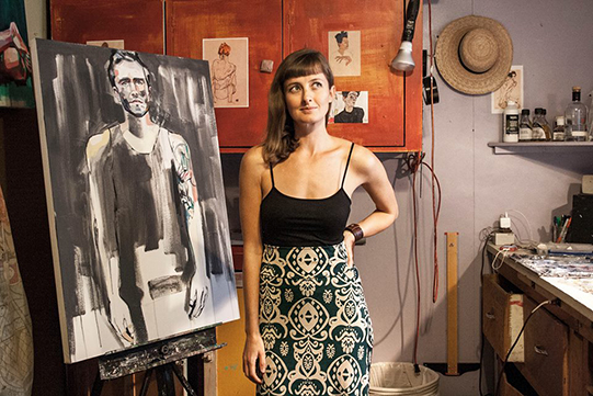 Sheila Dunn in her art studio