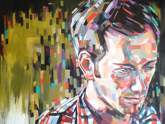 "Sheila Dunn, The Interim, oil on canvas, 36""x48"""