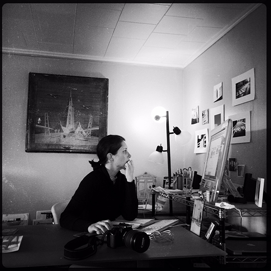 Photographer Amy Castano in her Studio