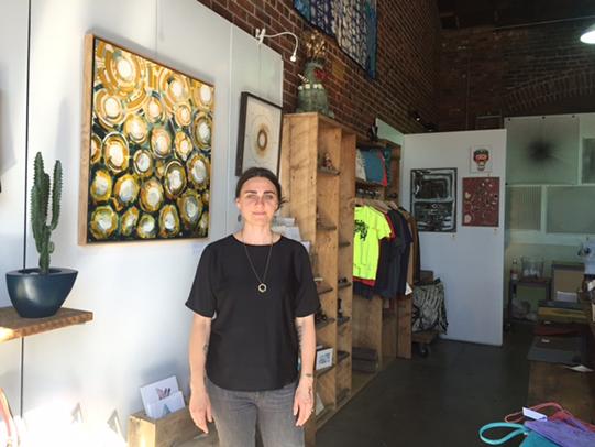 Cari Dolyniuk in her studio