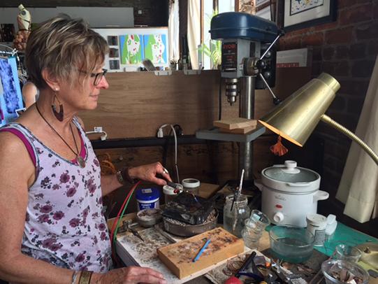 Marianne Prodehl in her studio