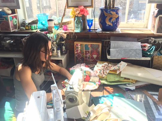 Natalie Mason in her studio